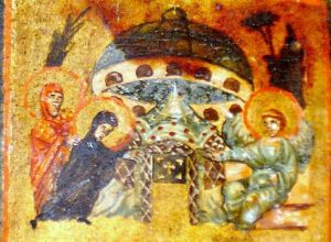 UFOs in rock paintings, murals, and paintings of the Middle Ages and Renaissance